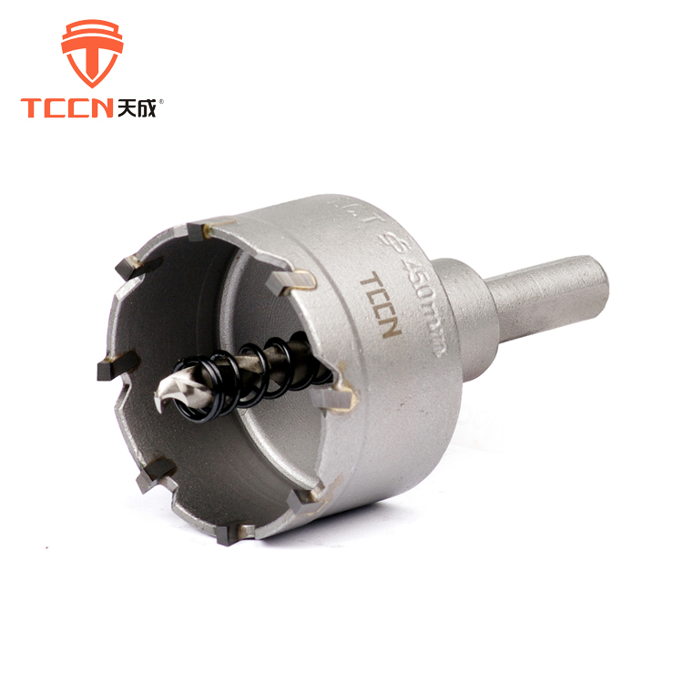 TCCN ISO 9001 Certificate 45mm Metal Cutter Tct Carbide Hole Saw Core Drill Bit For Pipe