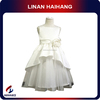 China manufacturer fashion Sleeveless white Children party dresses for fat girls