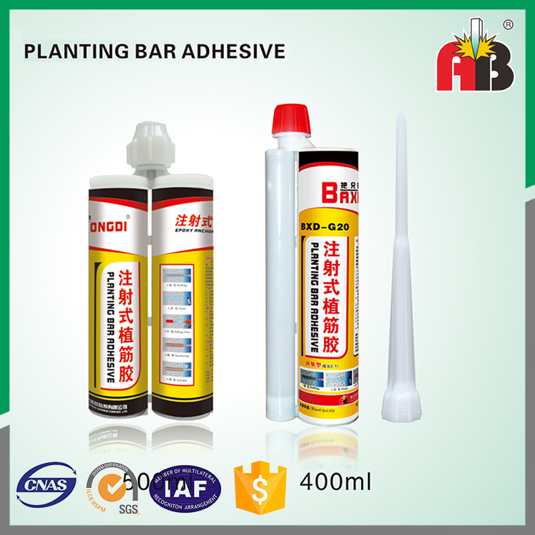 Injection type epoxy resin planting bar adhesive