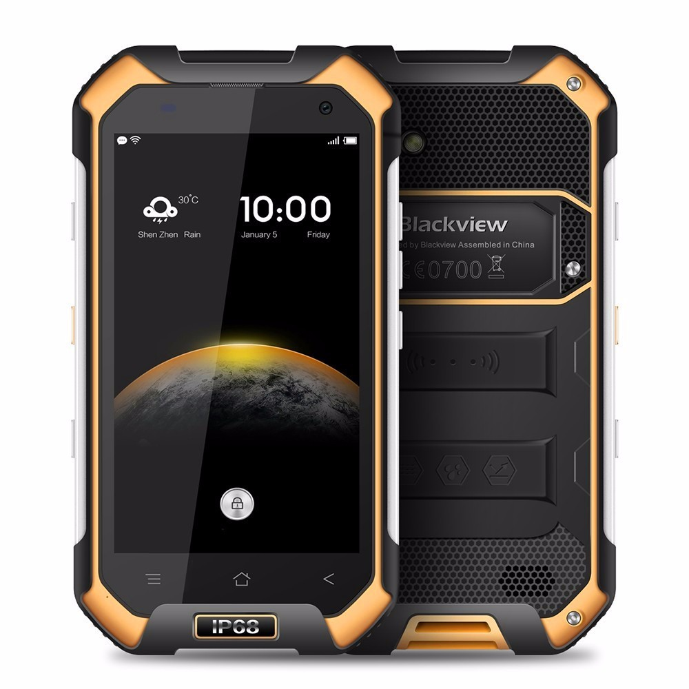 Original Blackview BV6000 Helio P10 MTK6755 2.0GHz Octa Core Android 6.0 Front 5.0Mp and Back 13.0Mp smartphone