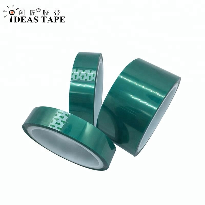 Heat resistant Green Polyester Tape Silicone Adhesive for powder coating