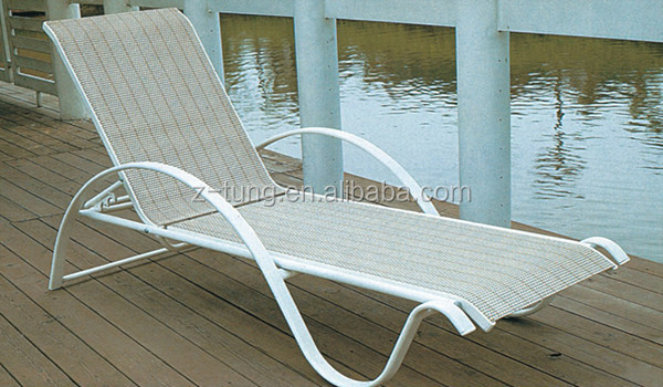 ZT-4025L Outdoor garden stackable beach lounge