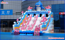 Hot Sale Giant PVC Commercial Inflatable Water Park slide With Pool