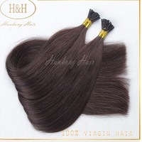 2015 The newest hair product double drawn top quality i-tip human hair extension for black women