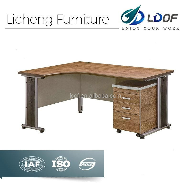 Standard melamine office table/L-shaped office table wood
