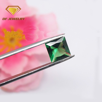 Synthetic loose green nano square emerald loose gemstones
