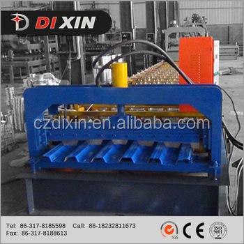 Color Coated Trapezoidal Glazed Tile Roof Roll Forming Machine, Metal Roof Sheet Forming Making Machine