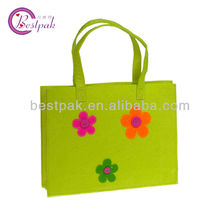 promotional felt grow decorative flower tote bags with handles