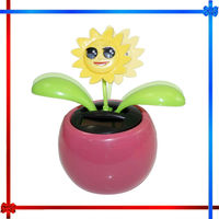 Sunflower Shape Solar power swinging/dancing flower
