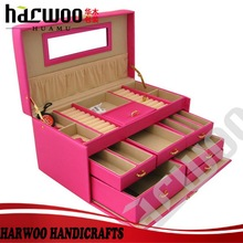 Harwoo brand custom High-end PU leather jewellery box for gift