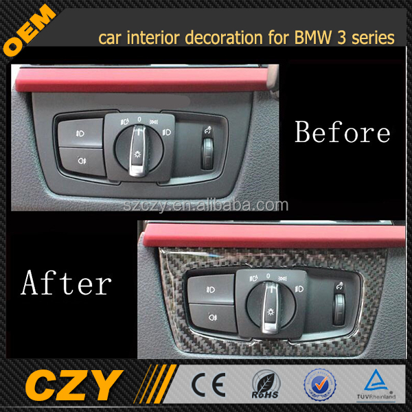 Carbon fiber car interior door trim For BMW new 3 series GT 1 series interior trim