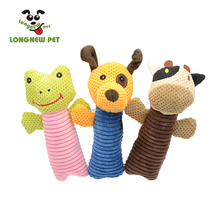 Voice Plush Cartoon Animal Cow Frog Dog Pet Chew Toy for Puppy