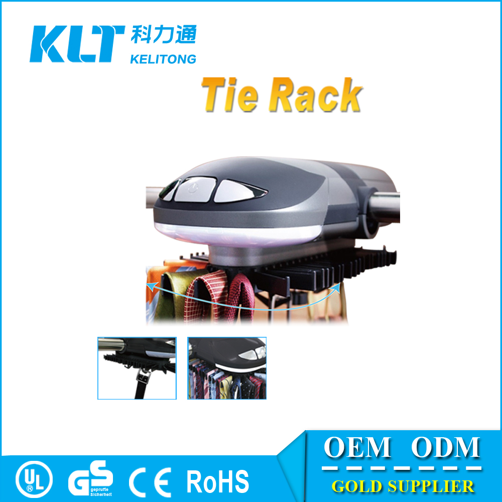 Automatic Rotating Tie Rack Hanger With Light