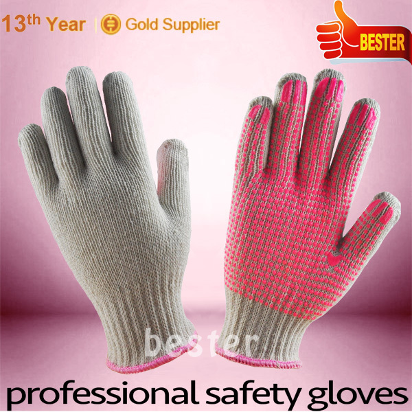 High Performance 7G Knitted Cotton/poly Dotted Working Gloves With Great Low Price