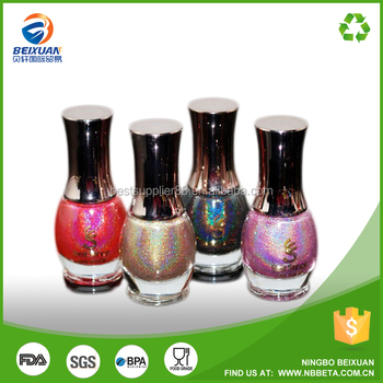 Wholesale custom made glass empty nail polish bottle 8ml 10ml 15ml