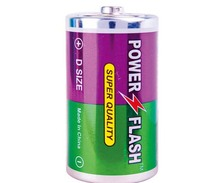 Power Flash Zinc Carbon R20P D Size Um-1 Sum1 Dry Cell Battery 1.5V, Super Heavy Duty Battery