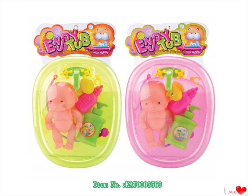 Shantou Factory Wholesale New Design Mini Plastic Baby Bath Set Toys For Children Gift