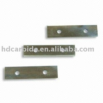 Double hole customized woodworking planer blade cutter