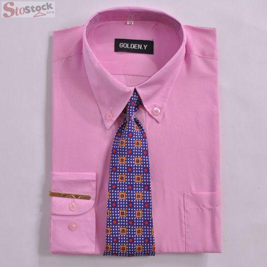 Clearance Stock Formal Tie Wholesale Tall Latest New Model Formal Shirts for Men