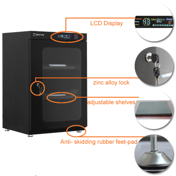Humidity Control 91 Litre Anti Mildew DVD Storage Cabinet