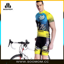 2016 New Arrival European Breathable Fluorescence Green Mens Sportswear china custom cycling jersey