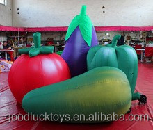 Customize Supermarket advertising inflatable fruits inflatable vegetable