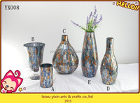 Wholesale Mosaic Glass Vase,Mosaic Flower vase, Mosaic glass vase