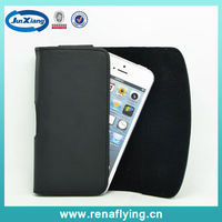 Leather wallet case holster with belt clip for iphone 5s