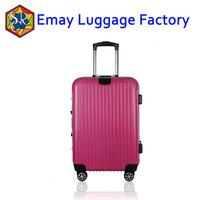 2016 travel trolley aluminum trolley and frame abs pc luggage with TSA lock