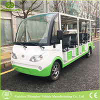 Environmental 14 seats Electric unclosed golf cart shuttle from China supplier