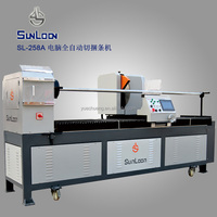 SL-258A CNC textile machinery, fabric roll cutter, fabric strip cutting machine