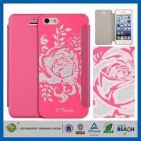 2013 Hot selling Latest Noble stylish flip cover wih platic back for iphone 5s