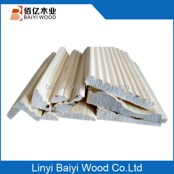 Pine Solid wooden skirting baseboard