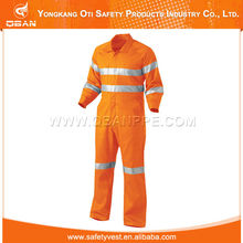 Reflective striped flame resistant coverall uniforms construction workwear