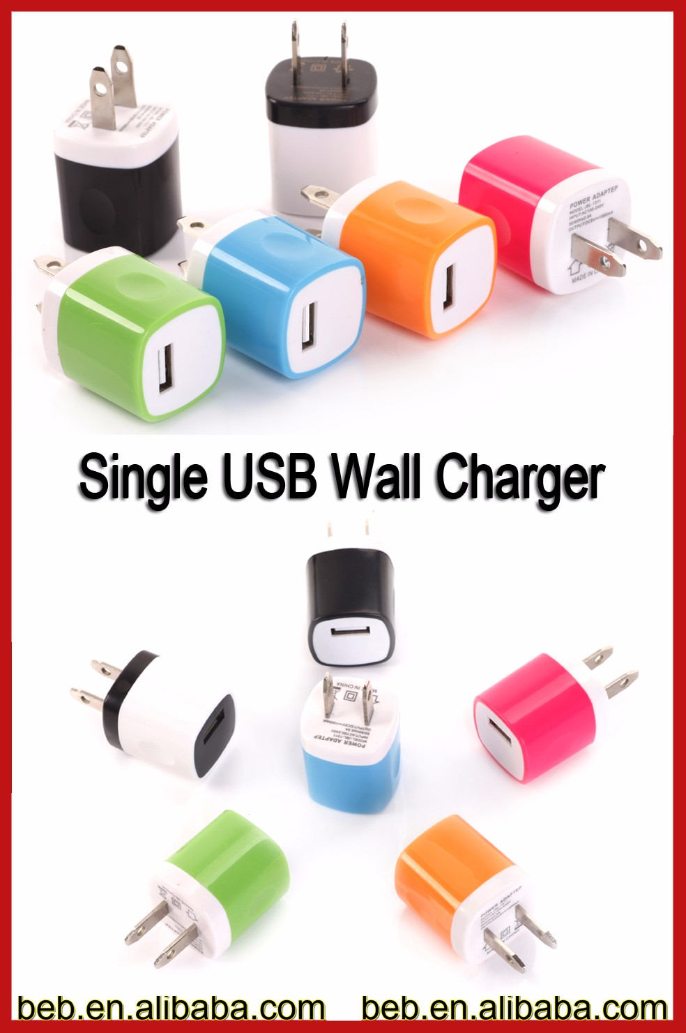 USB wall charger for samsung wall charger for iphone 6