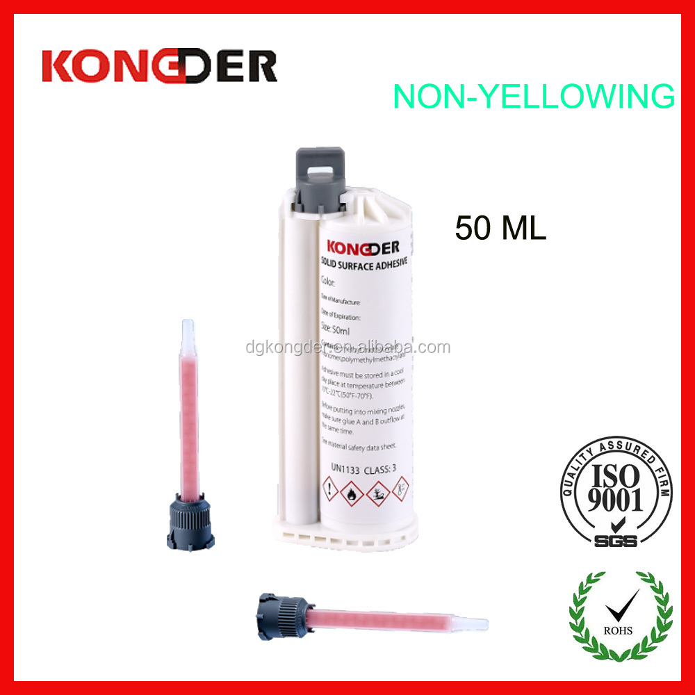 Plastic Dual Cartridge, Sealant Cartridge for 50ml 10:1 AB Arcylic Adhesives in Marble & Solid Surface