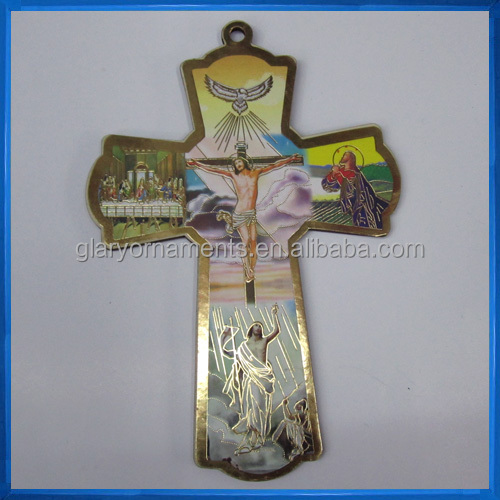 Wood Decorative Catholic Wall Icon Crucifix