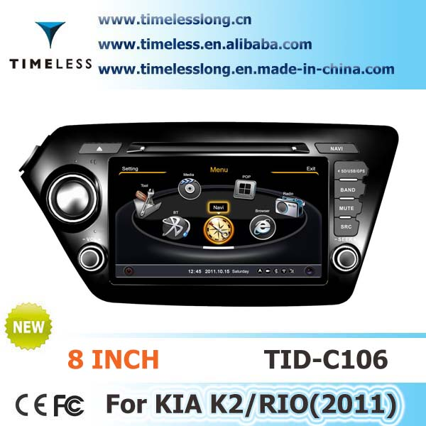 S100 Car Stereo DVD for KIA K2 2011-2012 year with A8 chipest, gps, bluetooth, sd, ipod, 3g, wifi