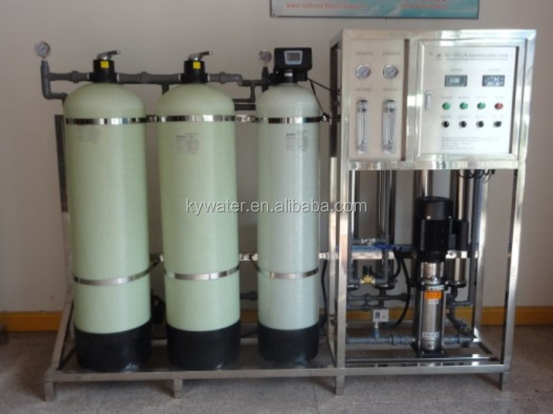 1000L/H water well sand filter with ro water treatment plant price