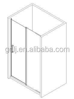 tempered glass two fixed panels and two hinge spare parts shower doors new design