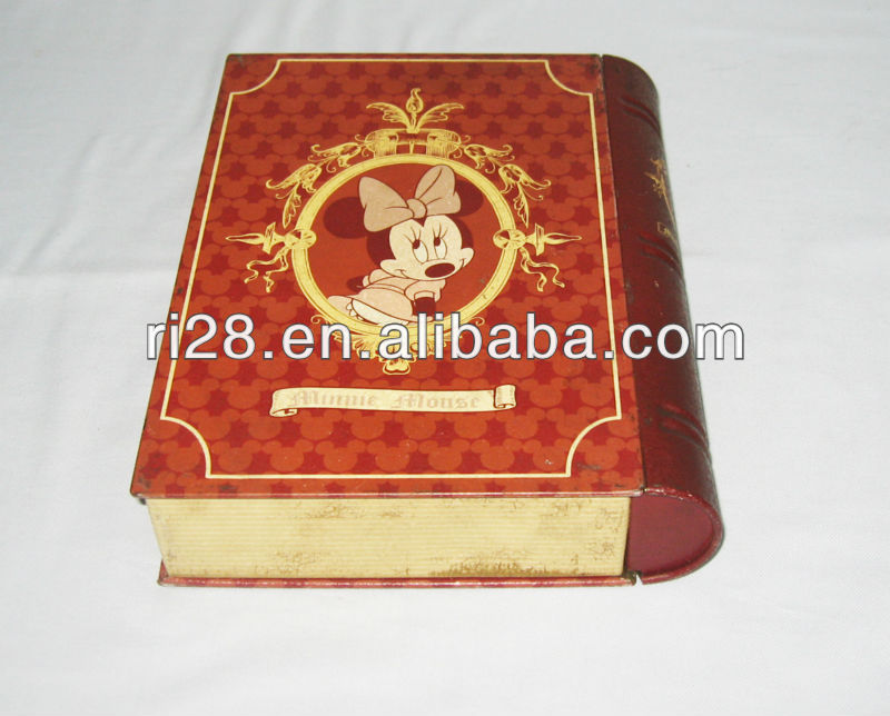 Old style tin book