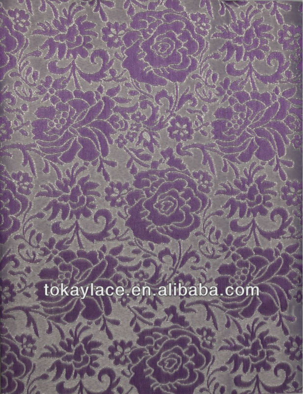 purple flower print African sego headtie