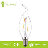 LED filament candelabra light bulb CF35 CA35 light bulbs old fashioned with E14/E12/B15 base