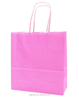 Baby pink foldable/cheap paper shopping bag for kids