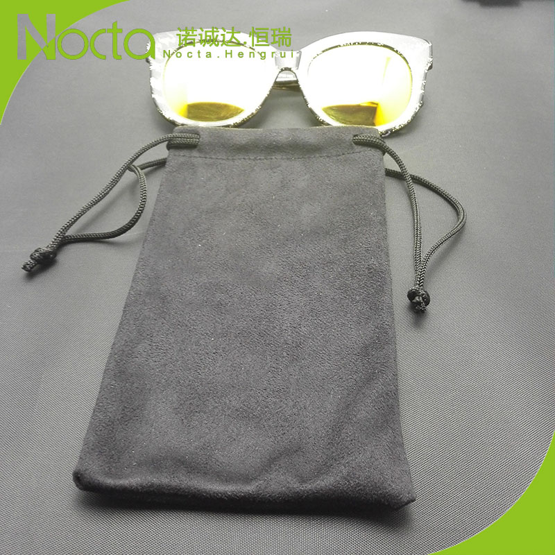 High-quality soft microfiber sunglasses pouch customized