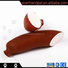 2014 newest inflatable squeaky sausage vinyl dog toy