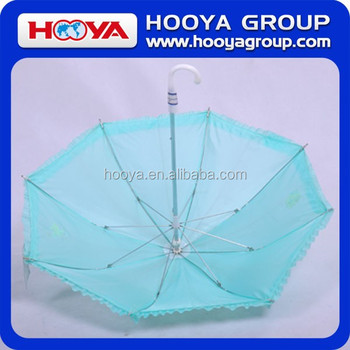 "19""*8K Auto Open Stragiht SilkScreen Satin Children Umbrella With Frill"