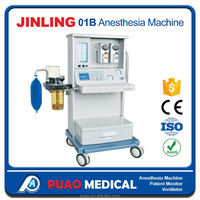 CE Approved Hospital Equipment, JINLING-01B with Two Vaporizers Anesthesia Machine