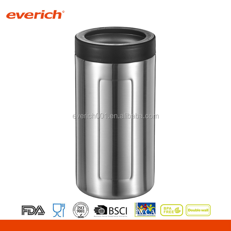 Everich 12oz 16oz Vacuum Insulated Double Wall Stainless Steel Beer Can Cooler Holder