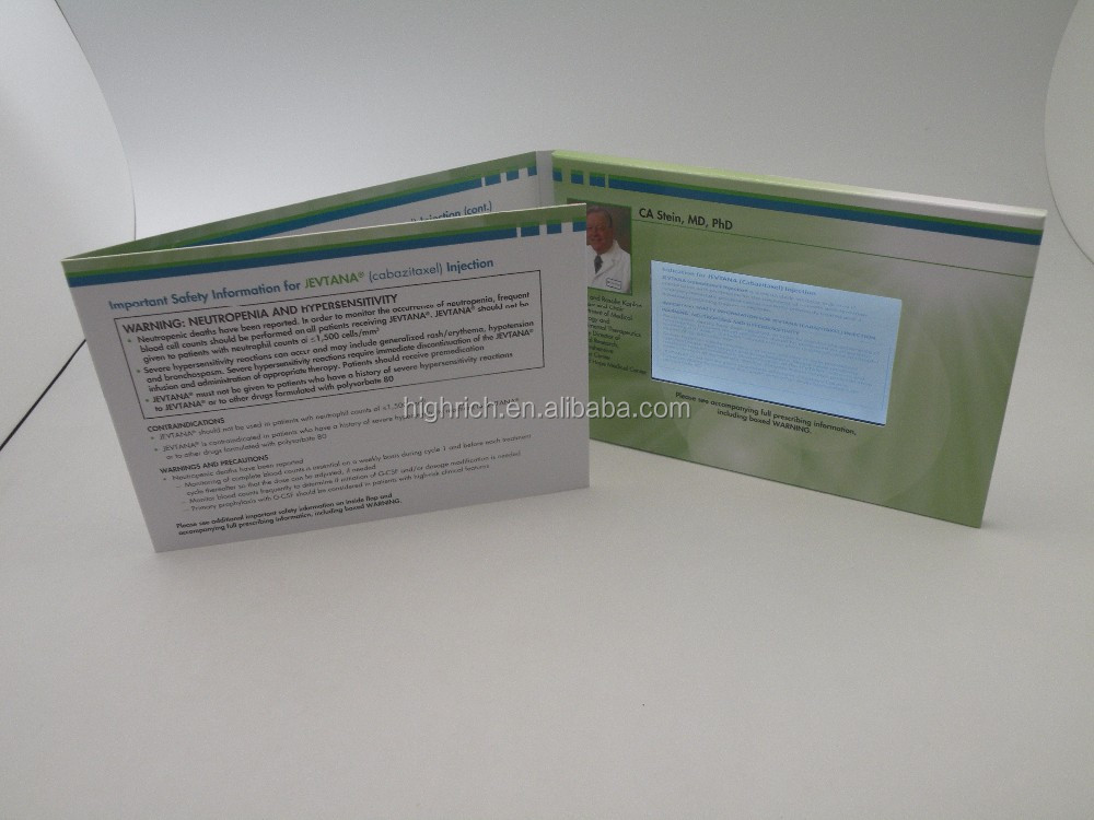 Video bussiness greeting card